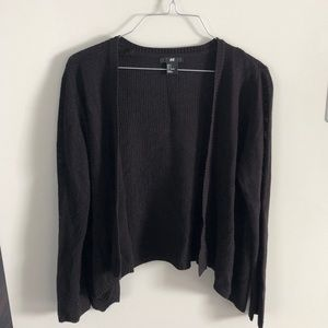 H&M small black cardigan